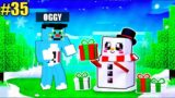 #35 | Minecraft | Oggy Made Cute Snow Golems | With Jack | Rock Indian Gamer |