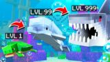 Eat SHARKS to GROW in MINECRAFT!
