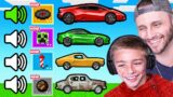 GUESS The SOUND w/ MY SON For his FIRST CAR (Minecraft)