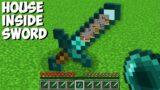 How to LIVE INSIDE a DIAMOND SWORD in Minecraft ? HOUSE INSIDE ITEMS !