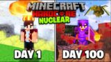 I Survived 100 Days In A Nuclear Winter In Minecraft..