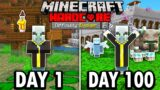 I Survived 100 Days as an Evoker in Hardcore Minecraft… Here's What Happened