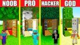 Minecraft Battle: INSIDE TREE HOUSE BUILD CHALLENGE – NOOB vs PRO vs HACKER vs GOD / Animation