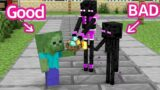 Monster School : Bad Baby Enderman and Good Baby Zombie – Sad Story – Minecraft Animation