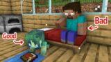 Monster School : Bad Herobrine and Good Zombie Girl – Sad Story – Minecraft Animation
