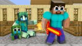 Monster School : Father Herobrine Assassin  and Brave Baby Zombie – Sad Story – Minecraft Animation