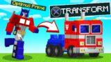 OPTIMUS PRIME vs. SPEEDRUNNER in MINECRAFT! (Transformer)