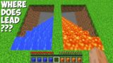 WHERE does LEAD LAVA STAIRS or WATER STAIRS in Minecraft ? STRANGEST PASSAGE !