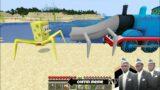 Worm Thomas vs Spider-Spongebob in Minecraft – Coffin meme