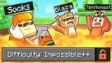 minecraft but its IMPOSSIBLE to DIE (Troll)