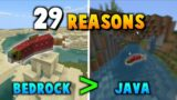 29 Reasons Minecraft Bedrock Is OBJECTIVELY THE BEST