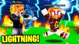CRAFTING a LIGHTNING BOW in CAMP MINECRAFT!