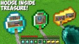 How to LIVE INSIDE a DIAMOND, EMERALD, GOLD in Minecraft ? HOUSE INSIDE TREASURE !