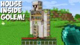 How to LIVE INSIDE a IRON GOLEM in Minecraft ? HOUSE INSIDE GOLEM !