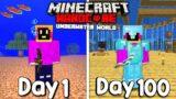 I Survived 100 Days Of Hardcore Minecraft, In An Underwater World…