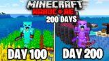 I Survived 200 Days Of HARDCORE Minecraft!