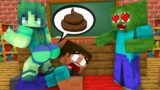 Monster School : POOR ZOMBIE LOVE CURSE – Minecraft Animation