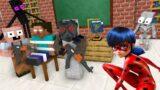 Monster School : SUPERGIRL LADYBUG SAVES HEROBRINE AND MONSTERS – Minecraft Animation