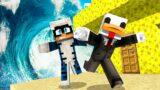 ONDA GIGANTE CONTRO BASE DI SPUGNA – Minecraft ITA