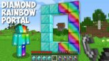 Dont TRY LIGHT this DOUBLE DIAMOND RAINBOW PORTAL in Minecraft ! DIAMOND RAINBOW DIMENSION !