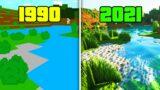 Evolution of Minecraft   1990 – 2021