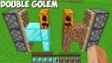 How to CREATE A DOUBLE GOLEM in Minecraft ? DIAMOND DIRT GOLEM !