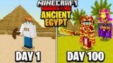 I Survived 100 Days in ANCIENT EGYPT in Hardcore Minecraft…