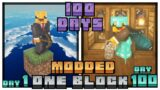 I Survived 100 Days in Modded One Block Minecraft… Here's What Happened