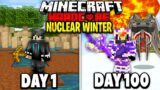I Survived 100 Days in a Nuclear Winter on Minecraft.. Here's What Happened..