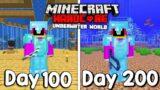 I Survived 200 Days Of Hardcore Minecraft, In An Underwater World…