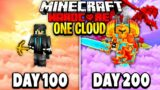 I Survived 200 Days on One Cloud in Minecraft.. Here's What Happened..