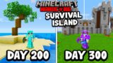 I Survived 300 Days on a SURVIVAL ISLAND in Minecraft Hardcore…