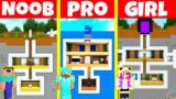 Minecraft Battle: NOOB vs PRO vs GIRL: UNDERGROUND BASE BUILD CHALLENGE / Animation