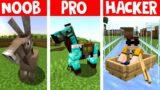 Minecraft NOOB vs. PRO vs. HACKER: TRANSPORTMITTEL #shorts