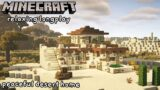 Minecraft Relaxing Longplay – Building a Peaceful Desert Home (No Commentary) [1.17]