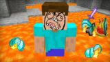 NORMAL DAY IN MINECRAFT BUT IT'S CURSED UNLUCKY