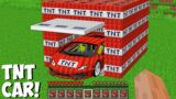 Opened TNT GARAGE AND FOUND A SUPERCAR in Minecraft ! MOST DANGEROUS TNT CAR !