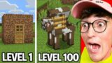 Testing Minecraft Secret Bases From Level 1 To 100