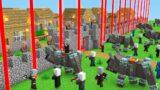 VILLAGERS PROTECT THE VILLAGE! Villager vs Pillager Minecraft Battle