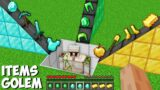 What if YOU MIX ALL ITEMS WITH GOLEM in Minecraft ? SWORD OR ARMOR OR TOOLS ?