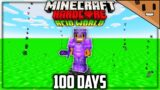 I Survived 100 Days in an ACID Only World in Hardcore Minecraft… Here's What Happened