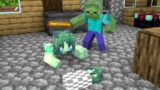Monster School : Baby Zombie Girl and Bad Zombie Boy – Sad Story – Minecraft Animation