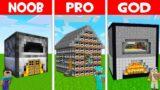 SECRET FURNACE HOUSE in Minecraft! NOOB FOUND FURNACE BASE in NOOB vs PRO vs GOD (Animation)