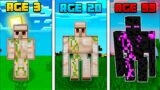 Surviving 99 years as a iron golem in minecraft || 99 years as a iron golem || iron golem, wiz x