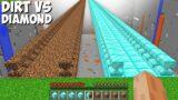Where DOES THIS LONG BRIDGE LEAD in Minecraft ? DIAMOND BRIDGE vs DIRT BRIDGE !